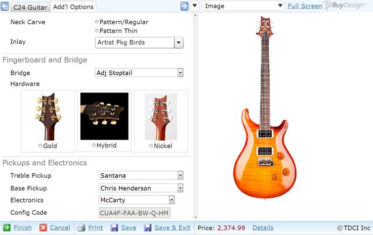 Guitar Configurator